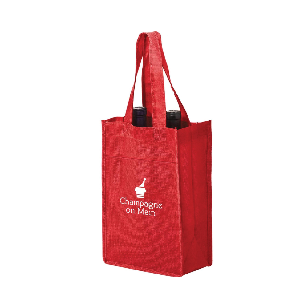 2 Bottle Wine Bag - Single Color Imprint