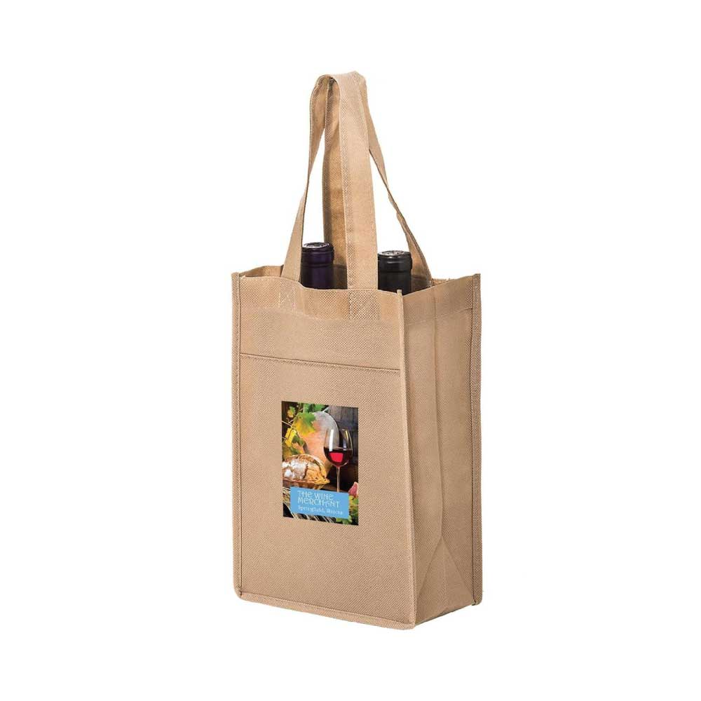 2 Bottle Wine Bag - Full Color Imprint Thumbnail
