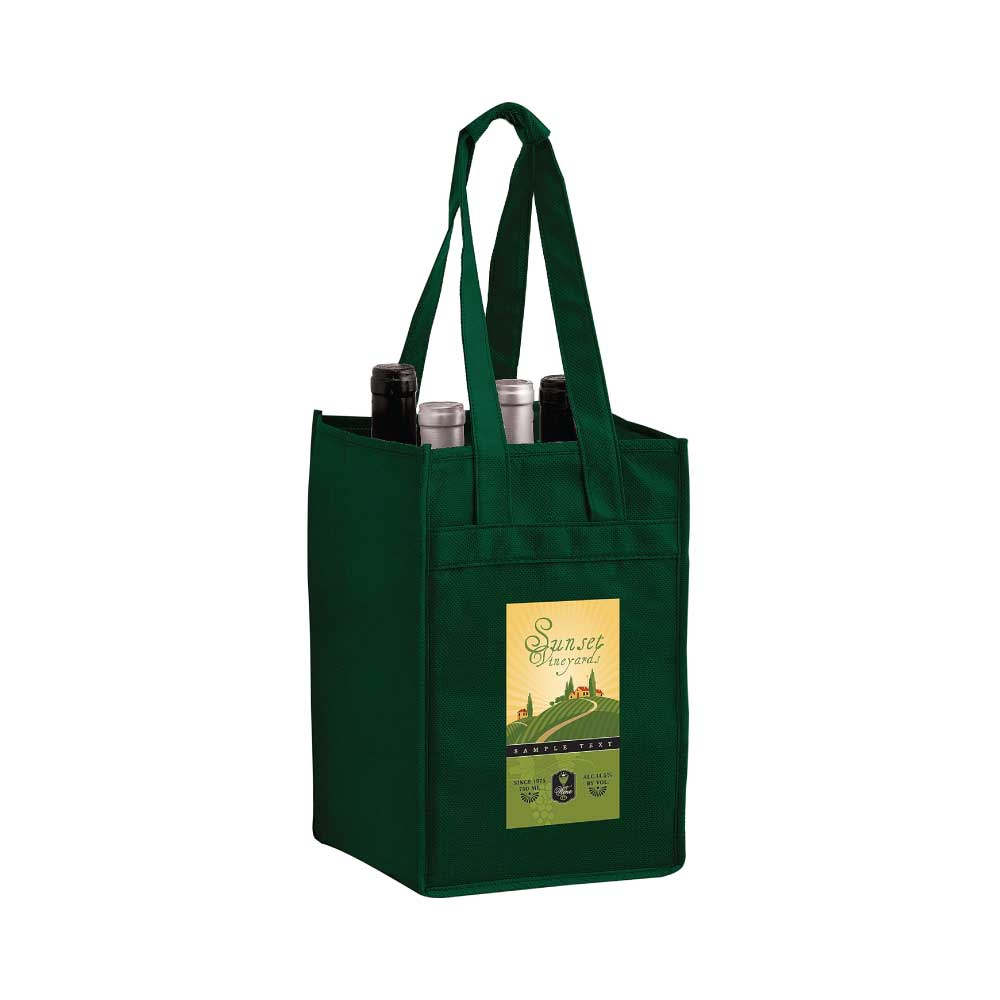 4 Bottle Wine Bag - Full Color Imprint Thumbnail