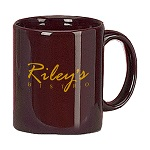 "11 oz. Burgundy ""C"" Handle Coffee Mug / M7168-43 Thumbnail"