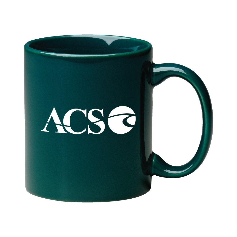 "11 oz. Dark Green ""C"" Handle Coffee Mug / M7168-11 Thumbnail"