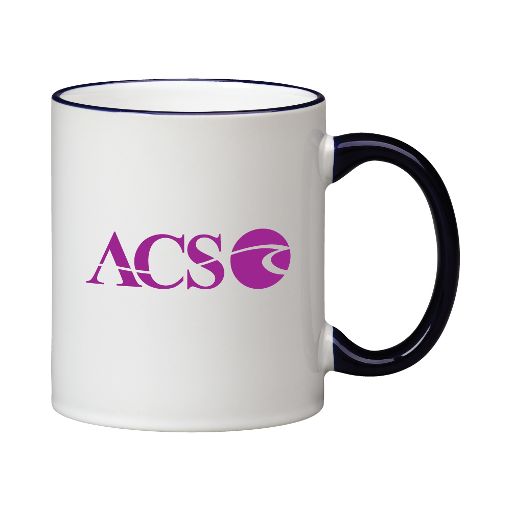 11 oz. Cobalt Blue Handle and Rim C Handle Mug Thumbnail