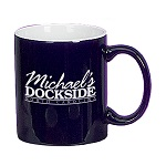 "11 oz. Cobalt Out / White In ""C"" Handle Mug / M7168-02/04 Thumbnail"
