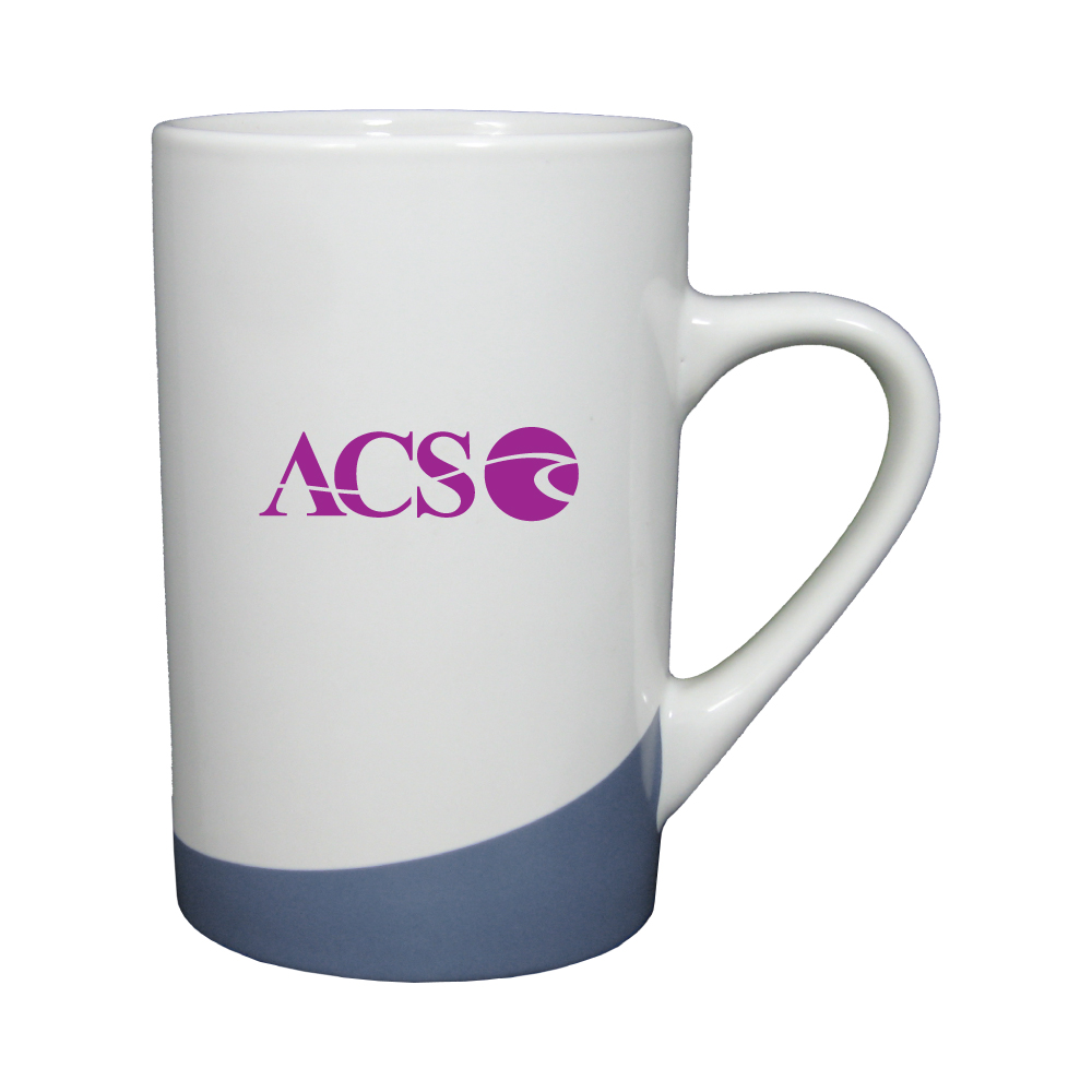 12 oz. White with Ocean Blue Accent Mug / M1026 Thumbnail
