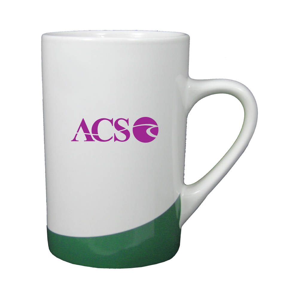 12 oz. White with Green Accent Mug / M10211 Thumbnail