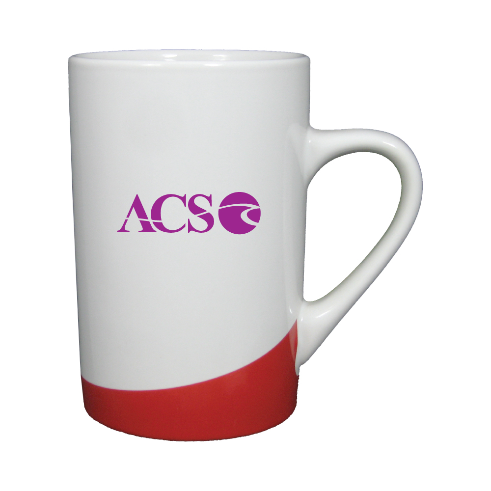 12 oz. White with Red Accent Mug / M10296 Thumbnail