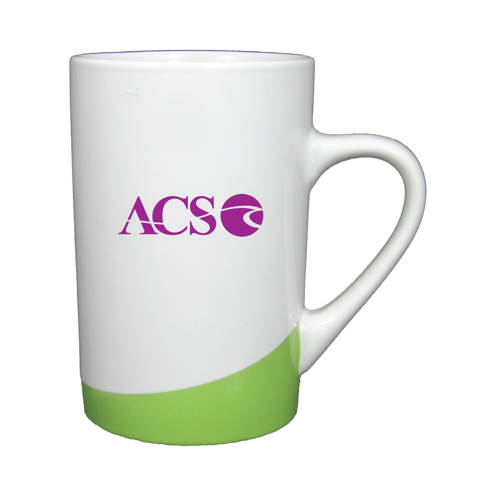 12 oz. White with Lime Green Accent Mug / M102839 Thumbnail