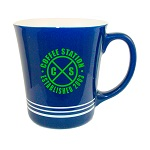 16 oz. Cobalt Blue Out / White In with 3 White Bands Mug / M1985-02/04-02B Thumbnail