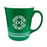16 oz. Green Out / White In with 3 White Bands Mug / M1985-02/11-02B Thumbnail