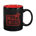 11 oz. Red In / Matte Black Out Hilo C Handle Mug Thumbnail