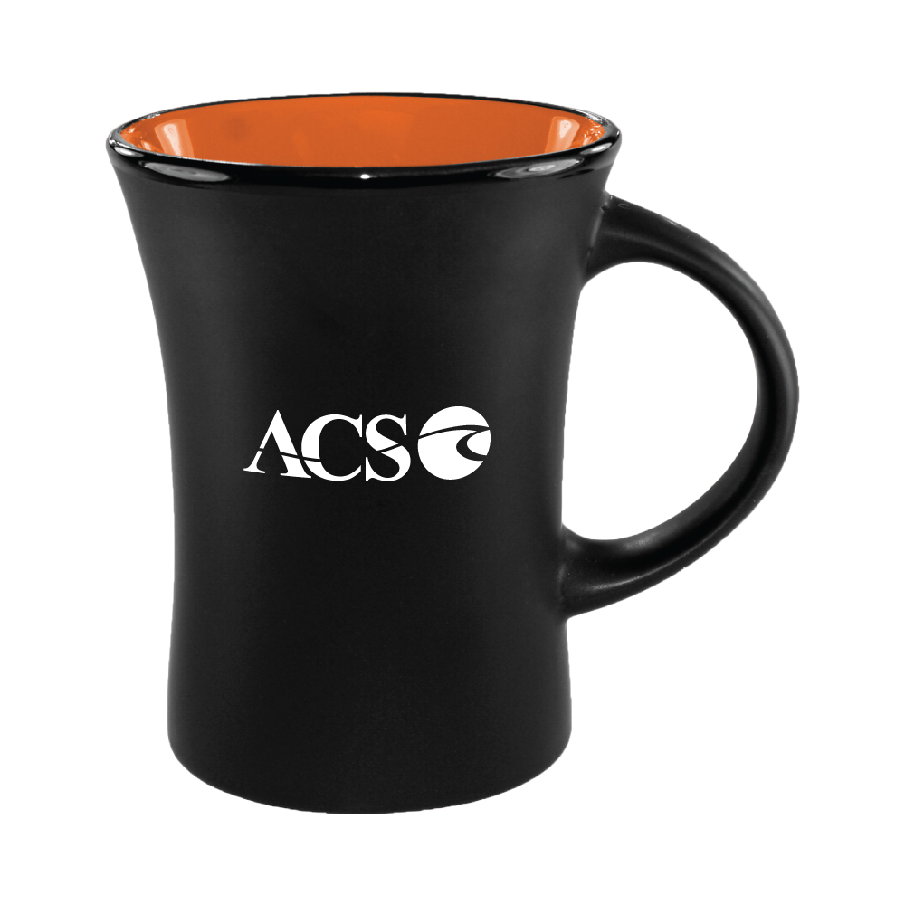 10 oz. Orange In / Matte Black Out Hilo Mug / M35702898 Thumbnail