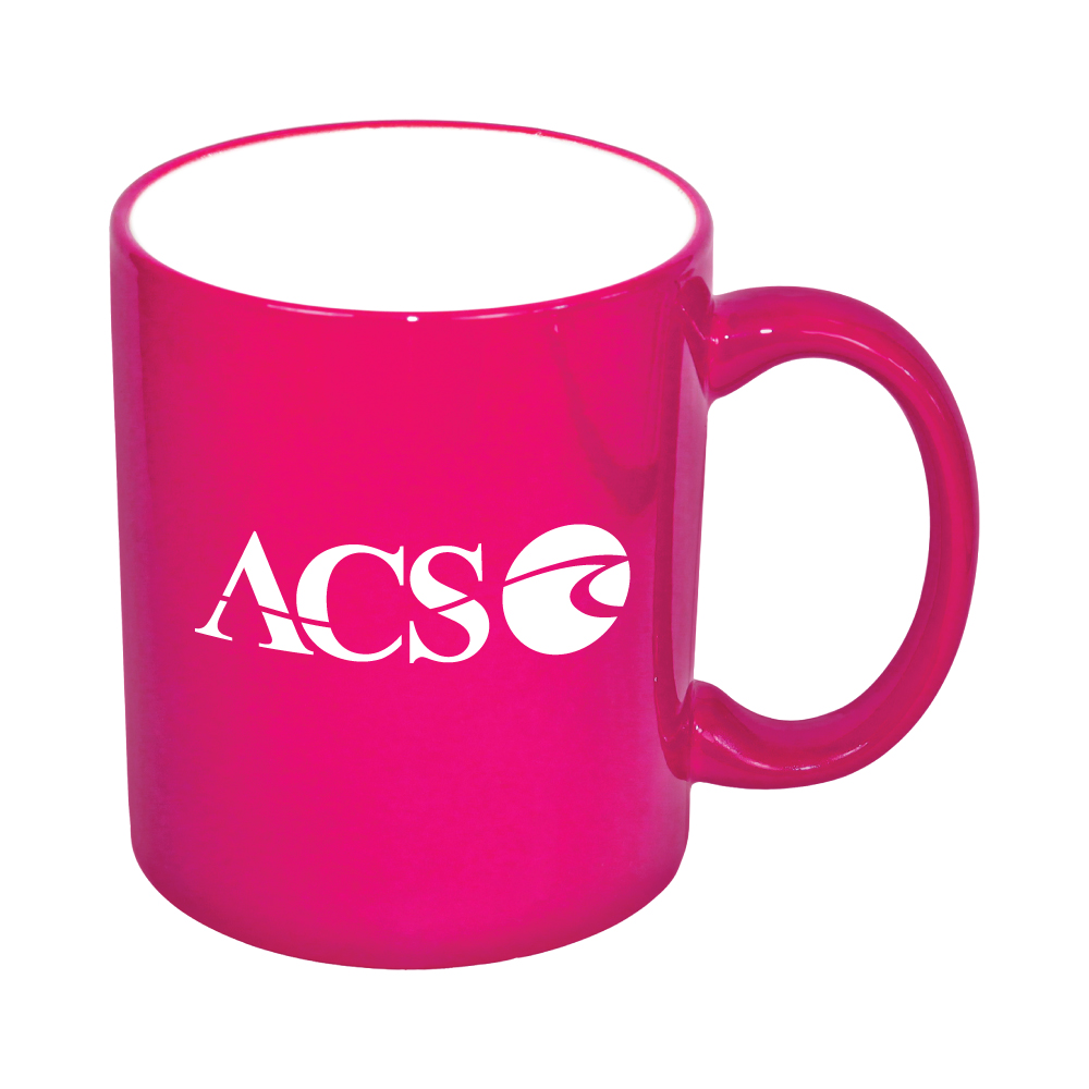 11 oz. White In / Pink Lazure C Handle Mug Thumbnail