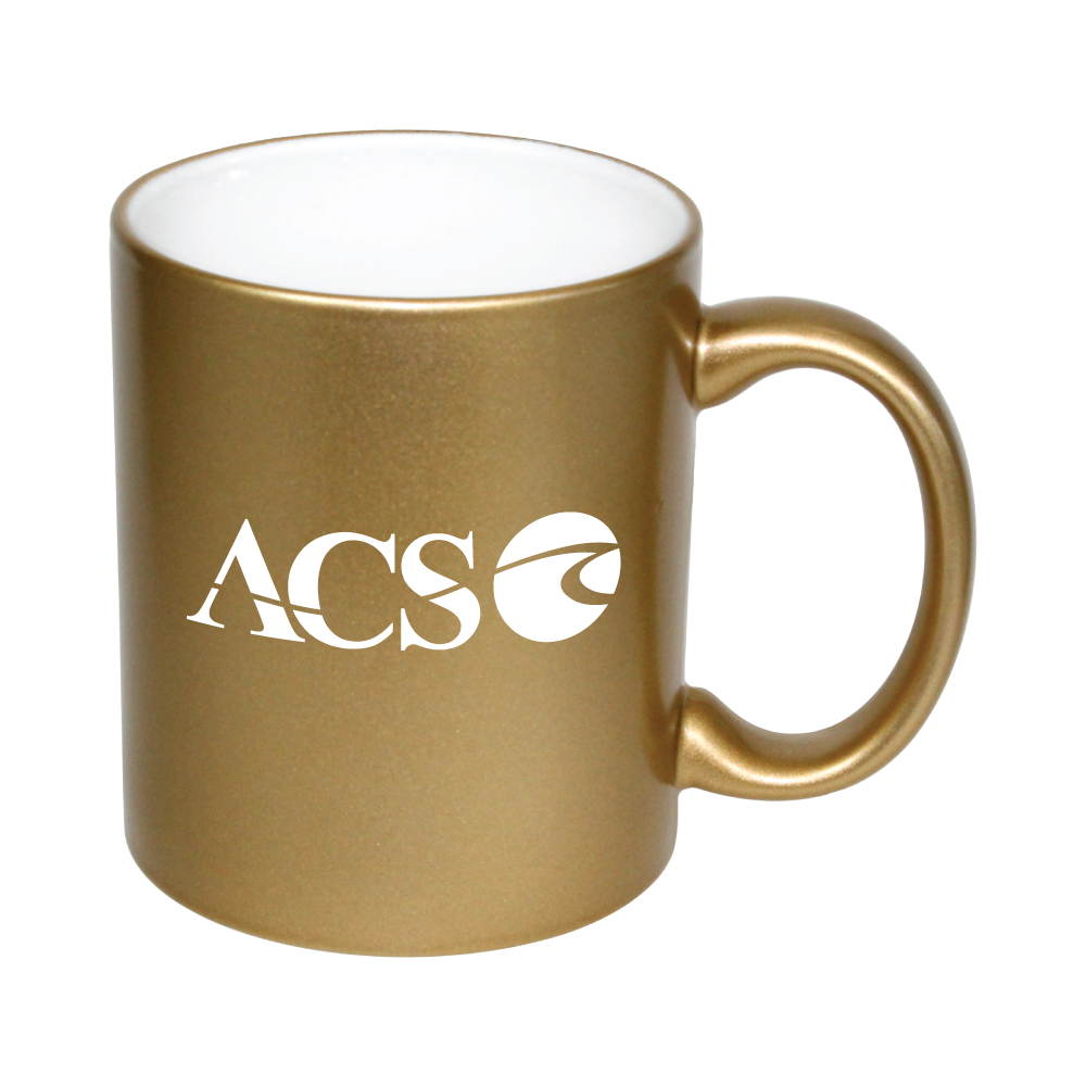 11 oz. White In / Gold Out Lazure C Handle Mug Thumbnail