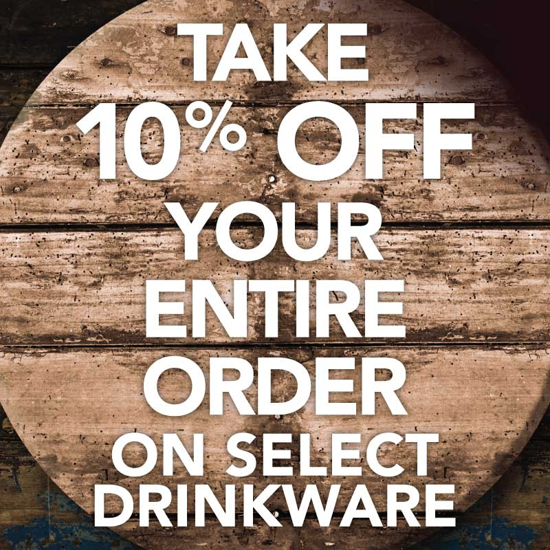 10% Off Select Drinkware