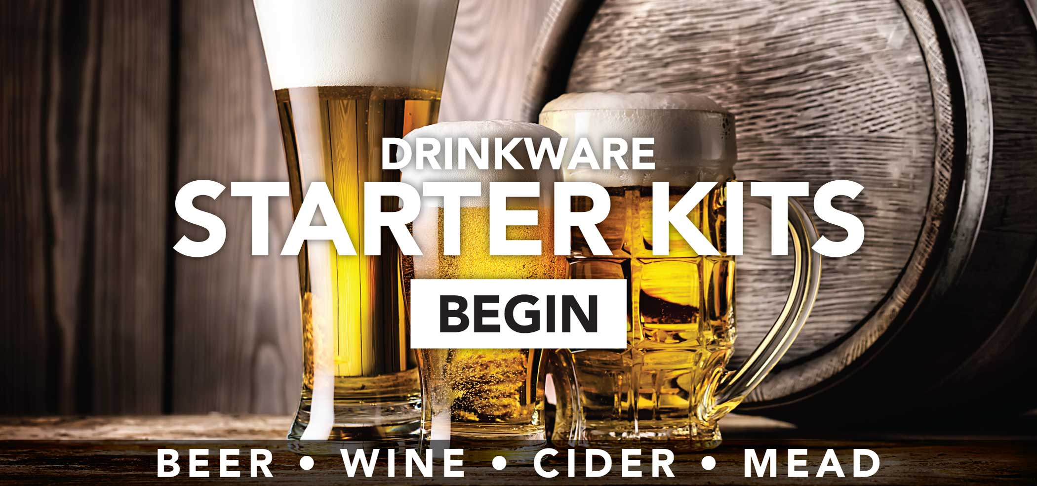 Brewery and Winery Drinkware Starter Kits