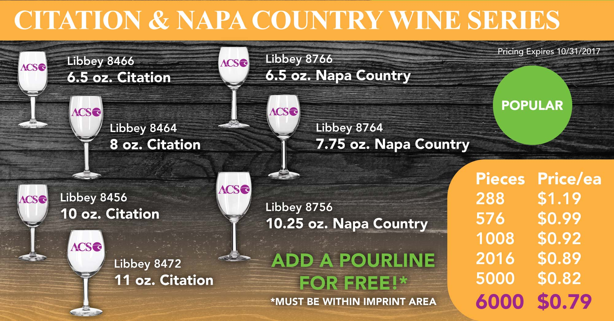 CITATION & NAPA COUNTRY WINE GLASSES