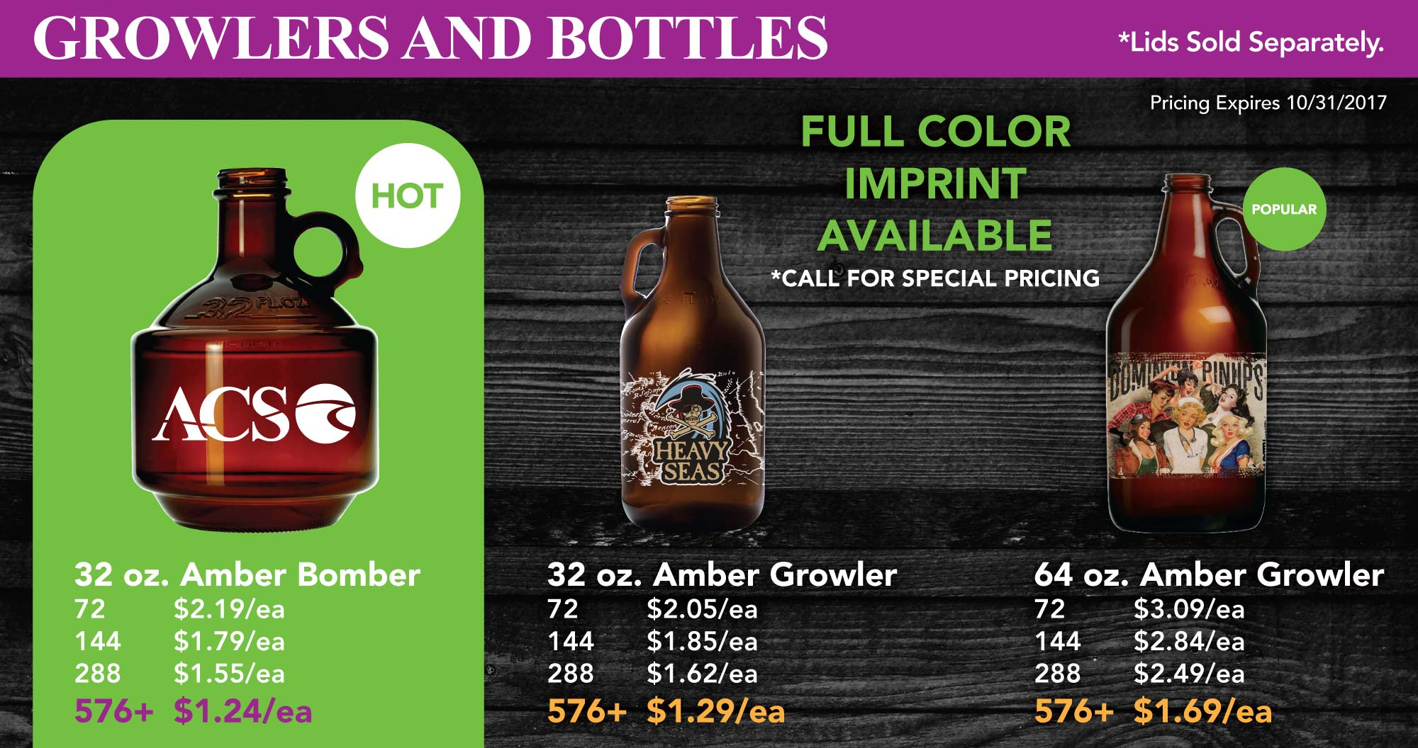 GROWLERS AND BOTTLES