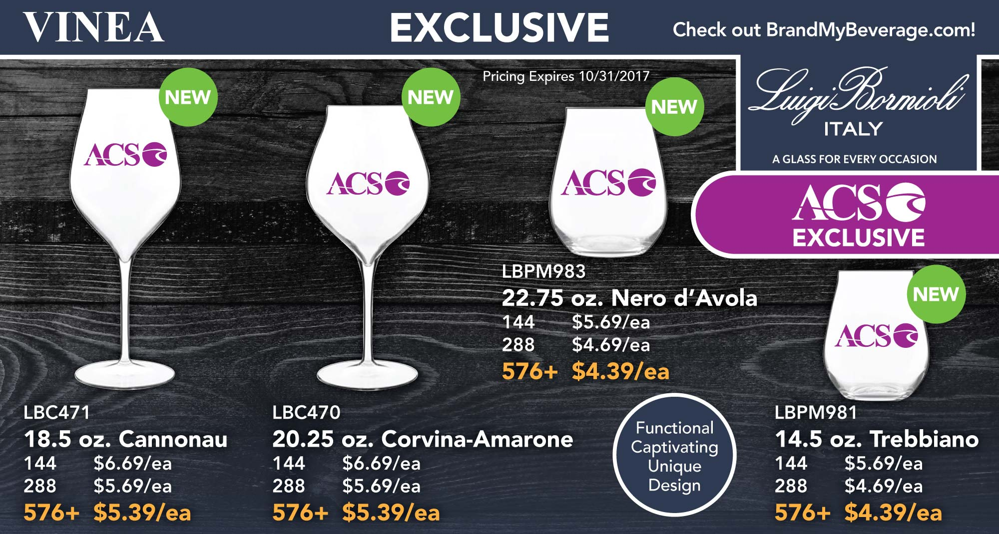EXCLUSIVE - LUIGI BORMIOLI WINE GLASSES