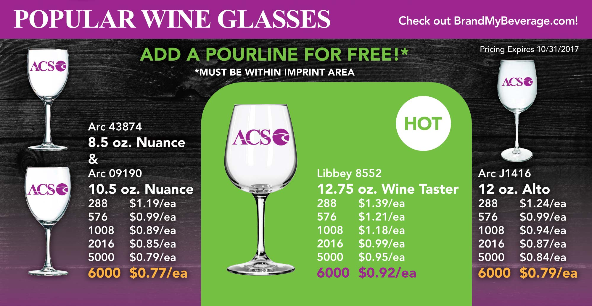 POPULAR WINE GLASSES OF 2017