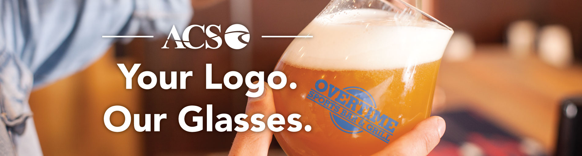 Your Logo. Our Glasses.