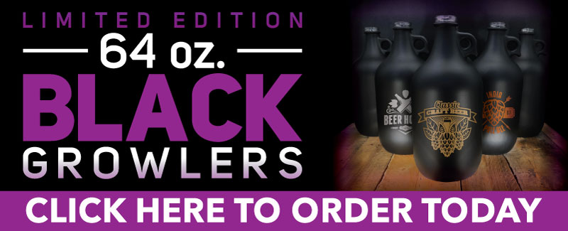 Limited Edition Black Growlers