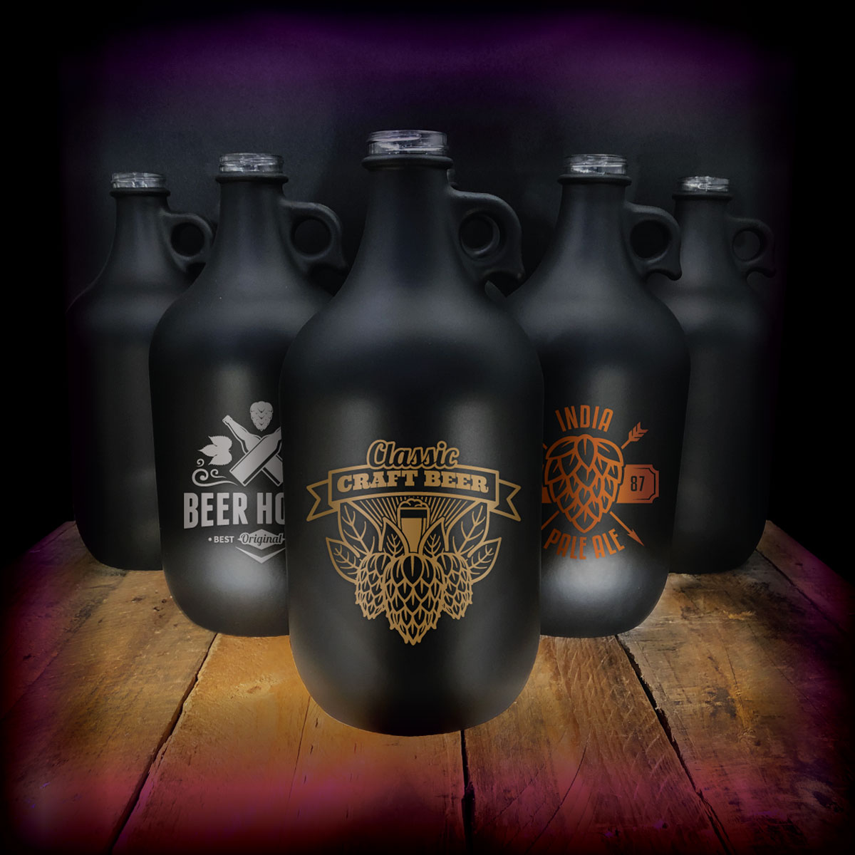 Limited Edition 64 oz. Black Growlers