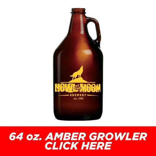 Low Price and Quick Turnaround 64 oz. Amber Growler