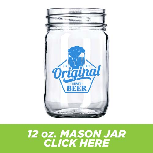 Low Price and Quick Turnaround 12 oz. Mason Jar
