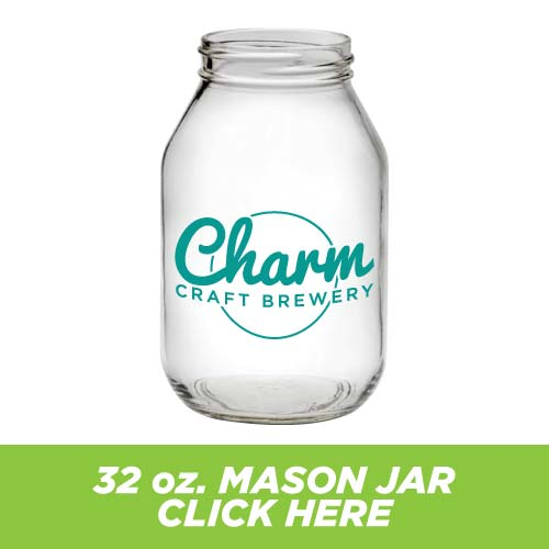 Low Price and Quick Turnaround 32 oz. Mason Jar
